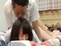 超かわいい美少女JKが家庭教師に覆い被さられてヤラれてる現場を盗撮