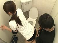 高身長のJKバレーボール部員とトイレで立ちバックがしたい